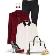 Houndstooth Shoes, created by chloe-813 on Polyvore