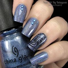 Nail Art by Belegwen: The 31 day challenge | Day 5: Blue nails