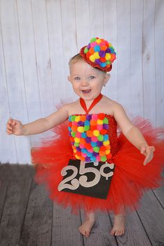 Gumball Costume Candyland Dress Gumball by willowlaneboutiques Halloween Tutu Costumes, Cute Costumes, Halloween Kostüm, Halloween Dress, Vintage Halloween, Halloween Makeup, Gumball Costume, Gumball Machine Costume, Baby Girl Halloween