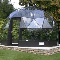 There is no more hurdle to know how to do greenhouse gardening? Greenhouse gardening is only possible in the best climatic conditions and weather variables. Geodesic Dome Greenhouse, Underground Greenhouse, Geodesic Dome Homes, Outdoor Greenhouse, Cheap Greenhouse, Backyard Greenhouse, Greenhouse Plans, Homemade Greenhouse, Greenhouse Wedding