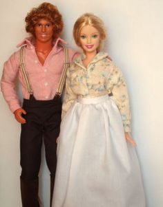 Charles and Caroline Ingalls Barbie Dolls!!