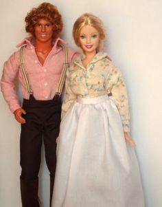 Charles and Caroline Ingalls Barbie Dolls!!