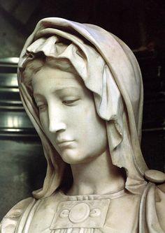 МИКЕЛАНДЖЕЛО. Скульптуры до 1501 Мадонна с младенцем (деталь). 1501-05 Мрамор. O.L. Vrouwekerk, Брюгге