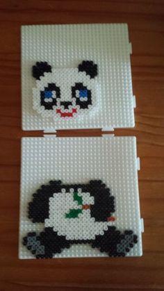 Panda hama beads❤