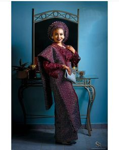 Check out some latest stunning Aso-Oke, brides in varied and beautifully designed Aso-oke Source: Instagram