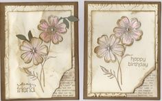 "again ""flower shop"" stamp set from Stampin' Up, love it, love it, love it-the stamp set I mean but I do like the card also"