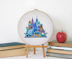 Pretty Little New York - Modern Cross stitch embroidery pattern PDF - Instant download by SatsumaStreet on Etsy https://www.etsy.com/listing/171370019/pretty-little-new-york-modern-cross