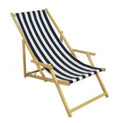10-317 N Beach Chair Lounger Recliner made of Wood Lounger | eBay