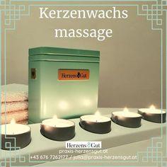 ✨ NEW ✨ NEW ✨ NEW ✨ Genau das Richtige in der kalten Jahreszeit! Eine wärmende Massage mit flüssigem Kerzenwachs.   Bei einer 🕯Kerzenwachsmassage 🕯 wird das erwärmte Wachs in die Haut einmassiert und stimuliert so das darunter liegende Gewebe. Durch die niedrige Schmelztemperatur der Massagekerzen lässt sich das Wachs gut verteilen und es ergibt sich eine angenehme Wärme auf der Haut. Die enthaltenen ätherischen Öle sorgen zusätzlich für ein Erlebnis mit allen Sinnen. Massage, Tea Lights, Candles, Candle Wax, Muscle Tissue, Tea Light Candles, Candy, Candle Sticks, Massage Therapy