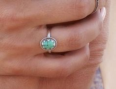Natural Turquoise Star ring in Solid 925 Sterling Silver - donbiujewelry - 2