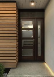 Purchase this Mahogany Wood Exterior, French/ Patio door Single Door is an excellent addition for your home Doors, Modern Exterior Doors, Mid Century Modern Kitchen Design, French Doors Patio, Modern, Single Entry Doors, Mdf Doors, Trendy Door, Modern Kitchen Design