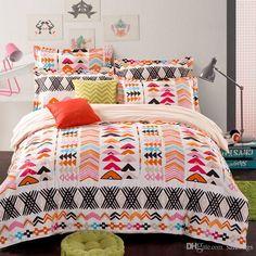 new design europe style cotton 4pcs bedding set pastoral printing duvet cover set queen size home