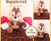 Squirrel Felt PDF PATTERN