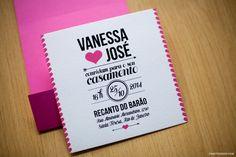 convite casamento http://www.phattdesign.com/ rosa clean Vanessa e Ze
