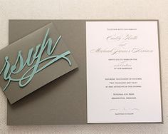 Monogram Wedding Invitations Por TimelessPaper En Etsy
