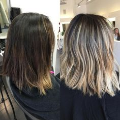 Hairstyles and Beauty: The Internet`s best hairstyles, fashion and makeup pics are here. Blonde Highlights On Dark Hair Short, Brown Hair Balayage, Brown Blonde Hair, Hair Color And Cut, Good Hair Day, Hair Dos, Hair Inspiration, Hair Beauty, Beauty Makeup