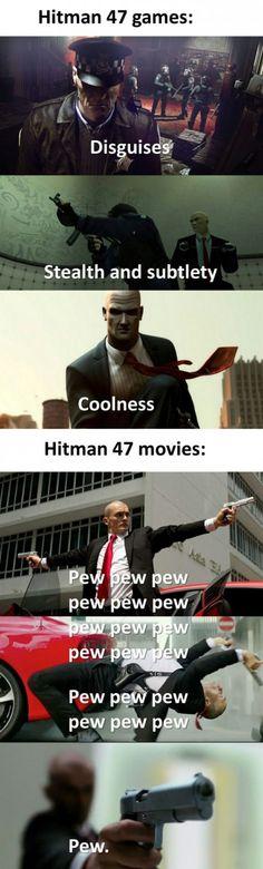 Hitman games vs The hitman movie