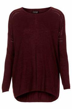 Pointelle Fine Gauge Top - Knitwear - Clothing
