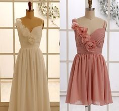 Dusty Rose Pink Bridesmaid Dress/Prom Dress One by misdress, $89.00