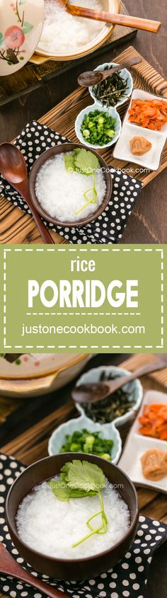 Rice Porridge (Okayu) お粥 | Easy Japanese Recipes at JustOneCookbook.com