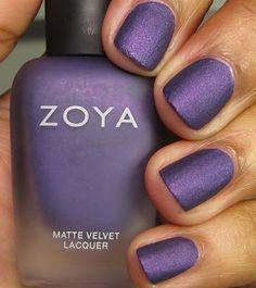 Matte purple polish