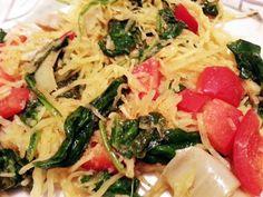 Spaghetti Squash Stir Fry Bean Recipes, Side Dish Recipes, Veggie Recipes, Healthy Recipes, Free Recipes, Fast Easy Meals, Easy Meal Prep, Healthy Cooking, Healthy Eating