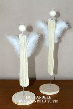 -Angel made from drift wood and feathers would make perfect gift tag especially with Lake Michigan drift wood