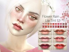 Flower Rain Lip Tint N61 by Pralinesims at TSR via Sims 4 Updates