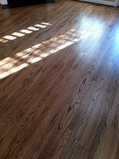 Red Oak With DuraSeal Special Walnut Stain