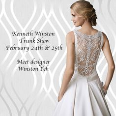 Mark your calendars for our Kenneth Winston Trunk Show from February 24th & 25th!  Come & MEET the fabulous designer behind the dresses Winston Yeh!