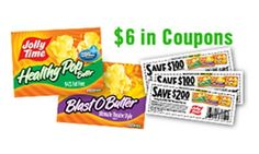 Free Jolly Time Popcorn $6 Mailed Coupon Booklet!