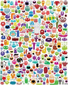 Les 244 monstres et quelques, et de nombreuses petites surprises : Affiches, illustrations, posters par la-parenthese-enchantee