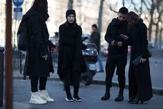 Rick Owens' die-hard followers showed up to the designer's Fall 2016 presentation at the Palais de Tokyo in Paris suitably dressed.