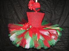 Christmas tutu set with crochet top size babies up by sophiastutus, $45.00