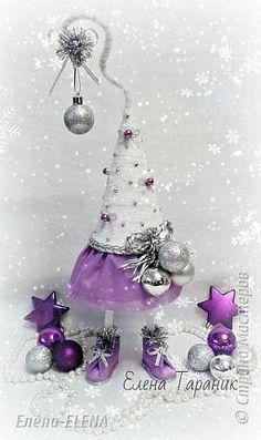 Бонсай топиарий Новый год Рождество Моделирование конструирование Елочки Бусины Кофе Кружево Шпагат фото 11