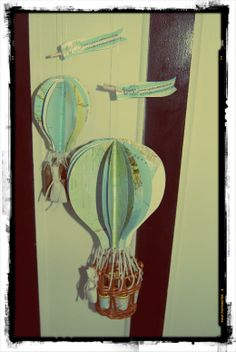 Hot Air ballon decoration made from old maps and wicker