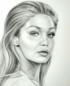 Pencil Portraits - Gigi Hadid drawing ✏ Tag her please! - Discover The Secrets Of Drawing Realistic Pencil Portraits.Let Me Show You How You Too Can Draw Realistic Pencil Portraits With My Truly Step-by-Step Guide. Realistic Pencil Drawings, Pencil Art Drawings, Art Sketches, My Drawings, Horse Drawings, Celebrity Drawings, Celebrity Portraits, Fan Art, Beautiful Drawings