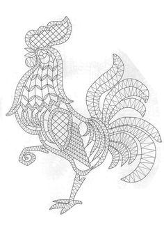 T t cock chicken Crochet Cross, Filet Crochet, Irish Crochet, Crochet Motif, Crochet Lace, Crochet Patterns, Lace Embroidery, Embroidery Patterns, Romanian Lace
