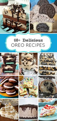 60+ Recipes using Oreos!