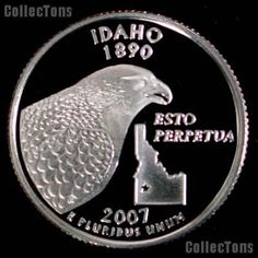 We are pleased to offer for sale this -S Idaho State Quarter Proof The theme of the Idaho State Quarter is Esto Perpetua Idaho was admitted Northwest Usa, State Quarters, American Coins, United States Mint, Commemorative Coins, Proof Coins, U.s. States, Money Saving Tips, Idaho