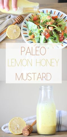 Paleo Lemon Honey Mustard | Made with Lemon Essential Oil #paleodressing #healthysaladdreassing #homemadehoneymustard #whole30 #paleo #keto