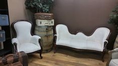 White Antique Chairs