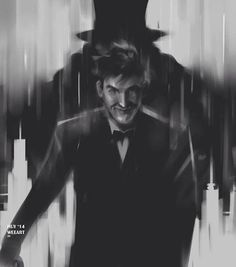 Oswald Cobblepot, shadowed by The Penguin.