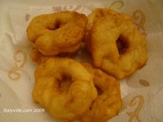 """Italian grispelle, or """"grease bells"""" as we called them when we were growing up. A fried potato donut."""
