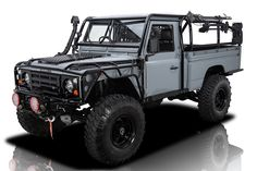RK Motors Shows Why the 1984 Land Rover Defender Pickup Truck is so Popular Land Rover Defender Pickup, Land Rover Truck, Landrover Defender, Defender 110 For Sale, Alcoa Wheels, Offroad, Roll Cage, New Engine, Pickup Trucks