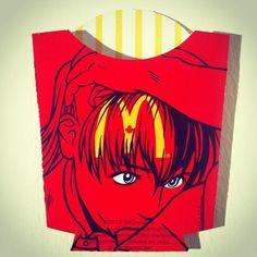 Les packagings de frites McDonald's revisités par Ben Frost-Srce:Publiz