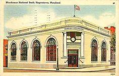 Hagerstown Maryland MD 1950s Nicodemus National Bank Vintage Linen Postcard