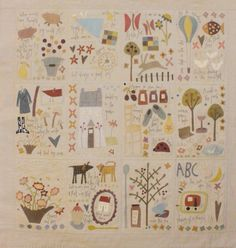 Dancing Chickens & Flying Pigs - BOM applique & pieced quilt PATTERN • AUD 50.00 - PicClick AU