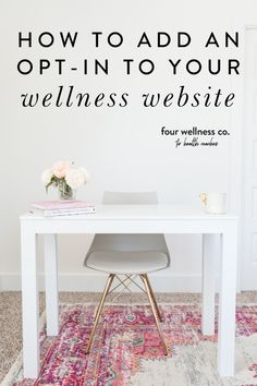 How To an Opt-In to your Wellness Website   Health Coach Tips   Looking for a marketing strategy to connect with prospective clients? Click to learn how to use opt-in gifts in your health or wellness business website to grow your mailing list and ultimately getting more clients!   Business Tips   Small Business   Entrepreneur Tips   Four Wellness Co. #healthcoach #wellnessbusiness #optins #freebies #onlinebusiness #marketing