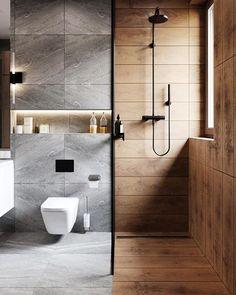 Minimal Interior Design Inspiration - Home - Apartment Bathroom Design Luxury, Bathroom Layout, Modern Bathroom Design, Bathroom Goals, Bathroom Designs, Bathroom Ideas, Glass Bathroom, Bathroom Vanities, Bathroom Organization